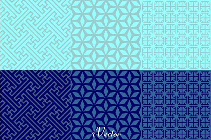 پترن زمینه آبی blue vector pattern
