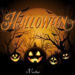پس زمینه وکتور طرح هالووین halloween vector background