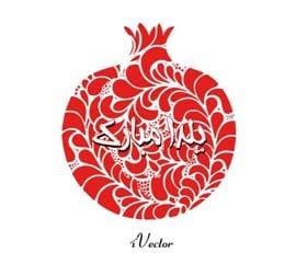 وکتور انار تبریک شب یلدا pomegranate yalda night vector