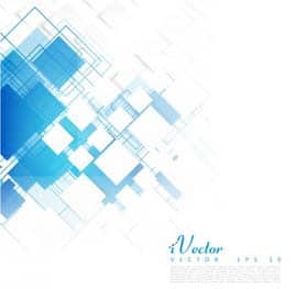وکتور چندضلعی زمینه آبیVector-blue-squares