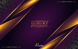 وکتور آبسترکت لوکس طلایی با زمینه بنفش Luxury Abstract Background Vector