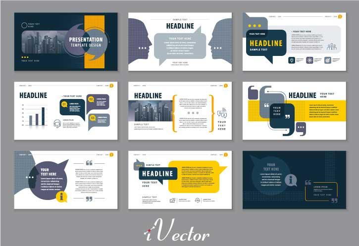 قالب های وکتور جهت رائه پرزنتیشن و ساخت کاتالوگ محصول abstract presentation templates