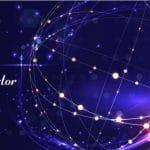 وکتور پس زمینه ابسترکت طرح تکنولوژی رنگ بنفش abstract technology vector background business science technology design