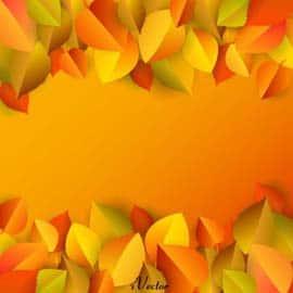 وکتور پاییز زمینه زرد Autumn Vector Art yellow background