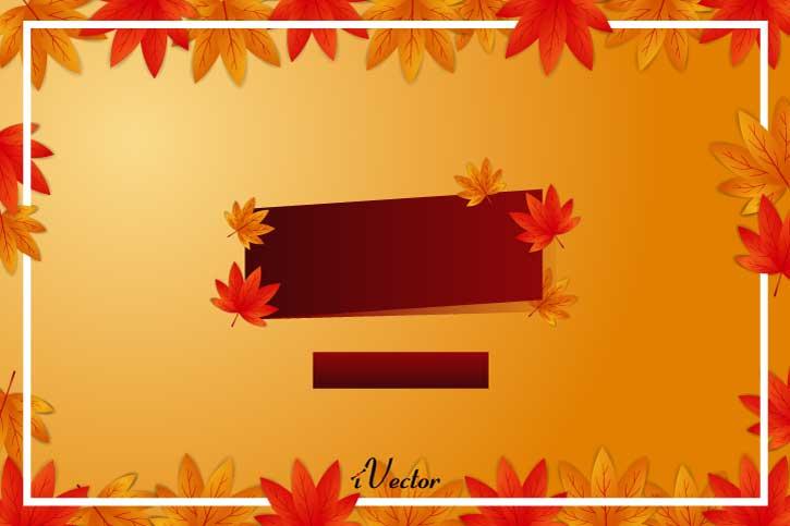 وکتور برگ های رنگی پاییزی Autumn Leaf Free Vector Art