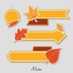 وکتور تگ تبلیغاتی طرح پاییز Autumn Tag Free Vector Art