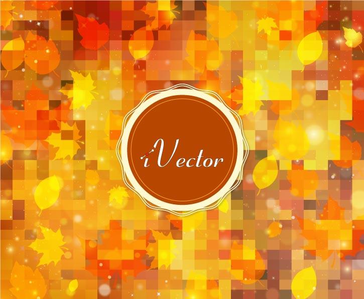وکتور پاییزی طرح دیجیتال autumn background vector