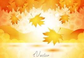 وکتور پاییزی autumn background vector
