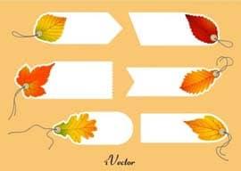 وکتور تگ تبلیغاتی طرح پاییز Autumn Tag Stock Vectors