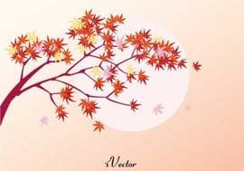 دانلود وکتور پاييزي Autumn Leaf Free Vector Art