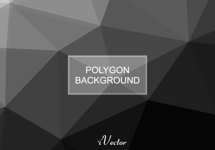 وکتور چندضلعی با زمینه مشکی رنگ black polygon vector background