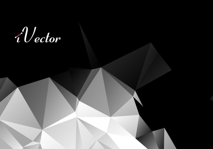 وکتور چندضلعی زمینه مشکی black polygon vector background