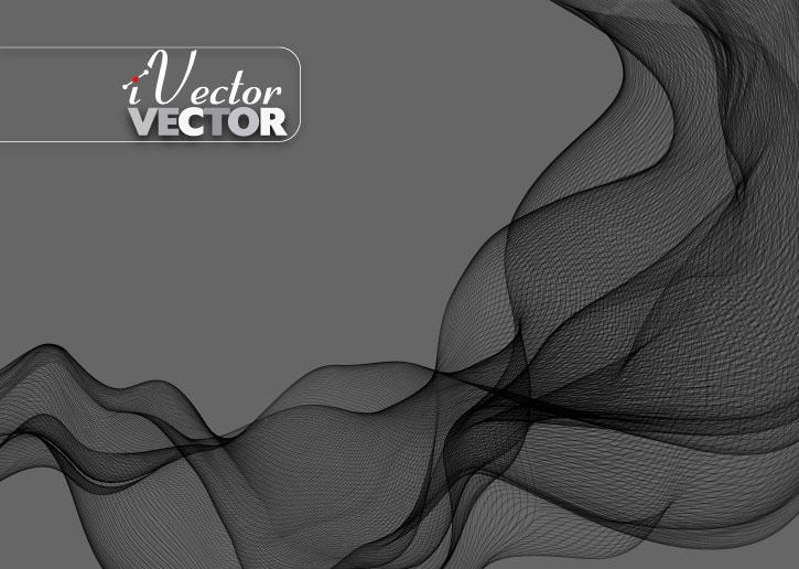 وکتور موج مشکی با زمینه خاکستری black wave vector background