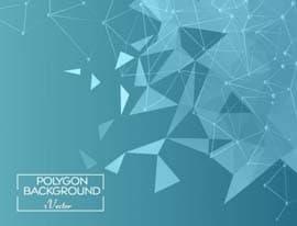 وکتور چندضلعی زمینه آبیblue-Polygon