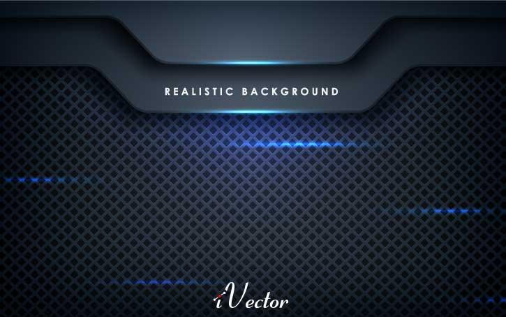 وکتور مدرن زمینه مشکی blue abstract dimension black