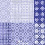 پترن وکتور 6 عددی آبی رنگ blue vector pattern