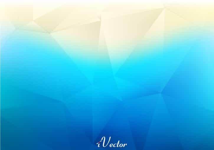 وکتور چندضلعی زمینه آبی Blue Polygonal Background Vectors