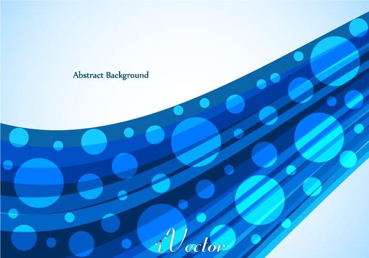 وکتور طرح موج و دایره آبی blue wave vector background