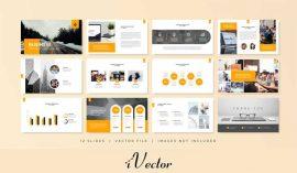 قالب وکتور اسلاید پرزنتیشن business minimal slides presentation template