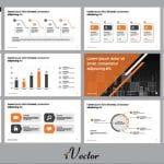 دانلود وکتور قالب آماده پرزنتیشن business report presentation design concept