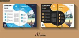 دانلود قالب وکتور فلایر (کاتالوگ تک برگی) در دو طرح مختلف download flyer template set vector