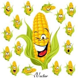 وکتور المان با طرح ذرت Corn Free Vector Art