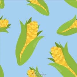 وکتور پترن ذرت Corn Pattern Free Vector