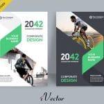 دانلود طرح وکتور جلد کتاب و مجله corporate book cover design template