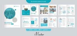 دانلود الگوی وکتور بروشور شرکتی corporate brochure proposal template