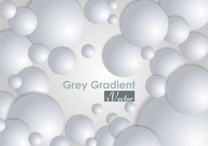 وکتور حباب خاکستری gray bubble vector