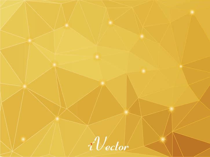 وکتور چند ظلعی طلایی gold polygon vector background