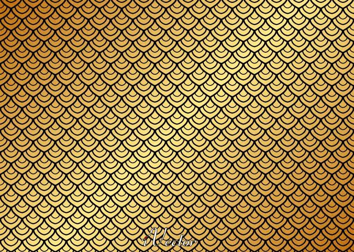 پترن وکتور زمینه طلایی Pattern Gold Vector