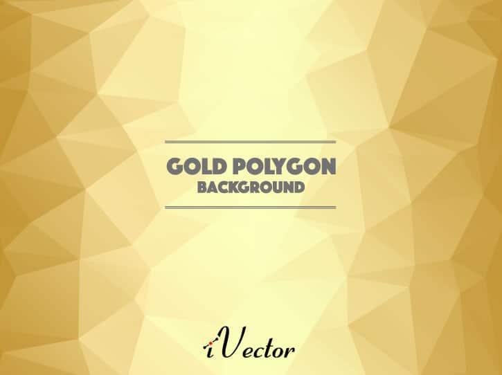 وکتور چند ضلعی زمینه طلایی gold polygon vector background