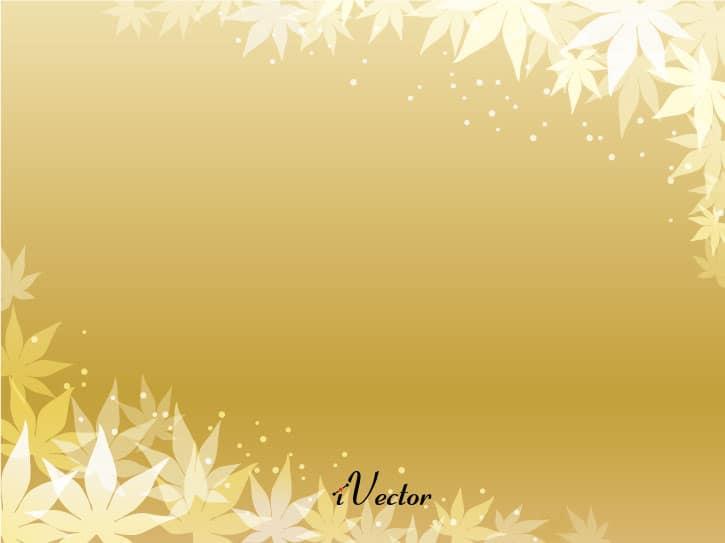 پس زمینه برگ های پاییزی طلاییgolden autumn leaves Vector Background