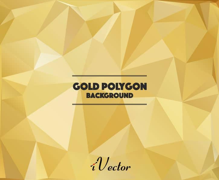 وکتور چند ضلعی زمینه طلایی رنگ gold polygon vector