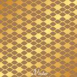 پترن وکتور طرح لوزی زمینه طلایی Pattern Gold Vector