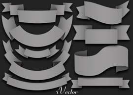 کادر طرح روبان وکتور gray Ribbon Vector Elements