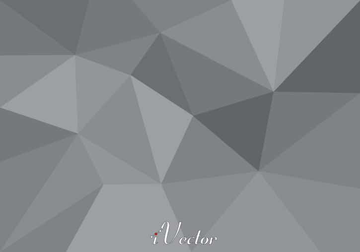 وکتور چند ضلعی زمینه خاکستری رنگ Polygon Background Free Vector