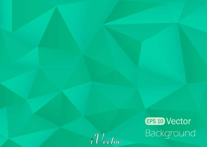وکتور چند ضلعی سبز رنگ green polygon vector background