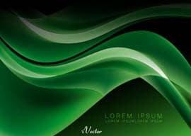 وکتور موج سبز رنگ green wave vector