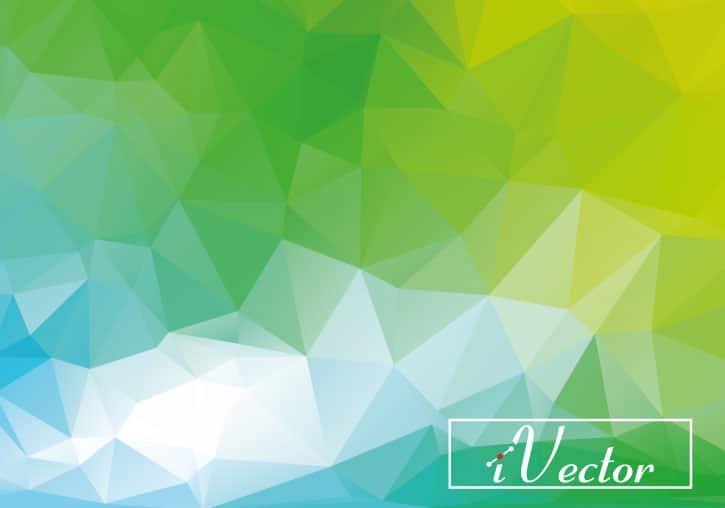 وکتور چند ضلعی سبز green polygon vector