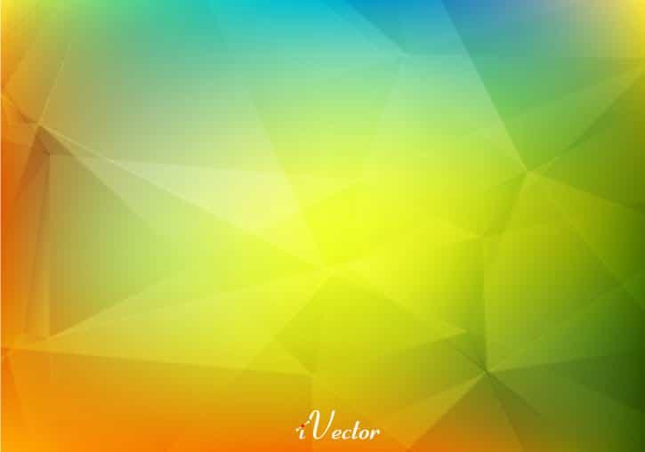 وکتور چندضلعی زمینه سبز رنگ Green Polygons Background Vector