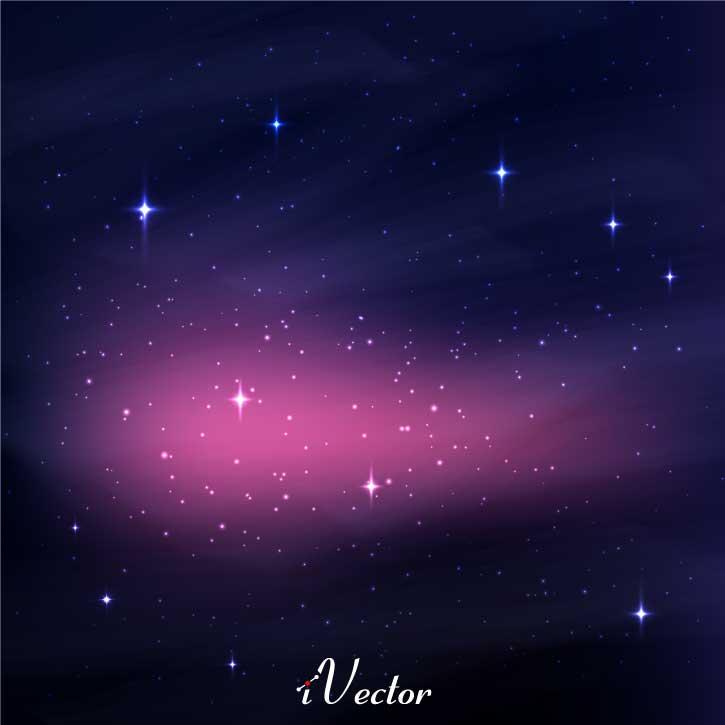 وکتور طرح کهکشان dark sky vector
