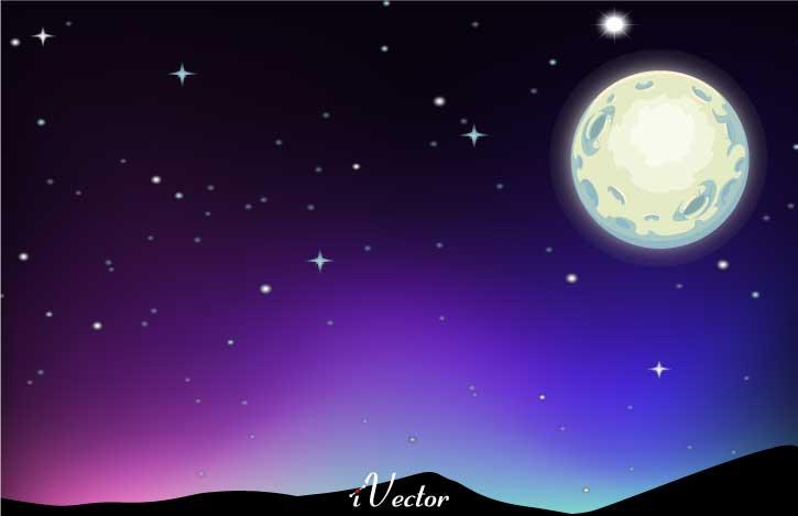 دانلود طرح وکتور شب beautiful pictures of the night sky