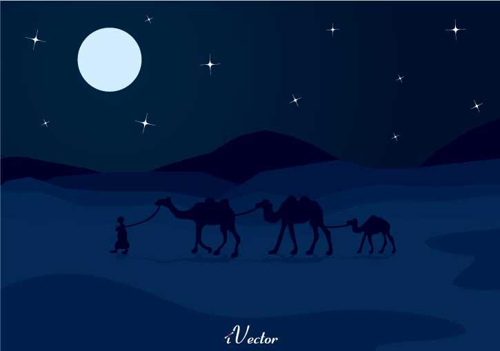 طرح لایه باز پوستر شب کویر beautiful pictures of the night sky