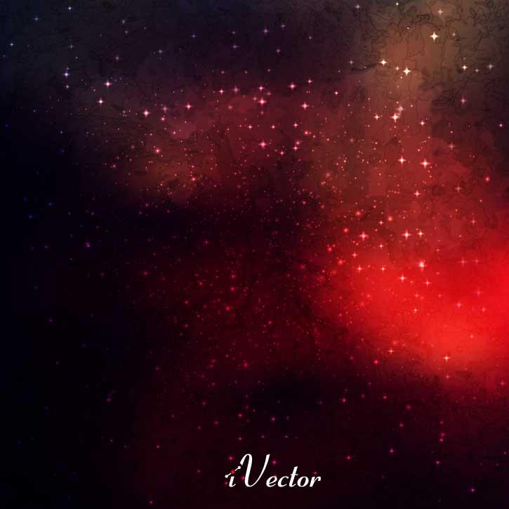 وکتور طرح کهکشان Galaxy vector with stars Vector