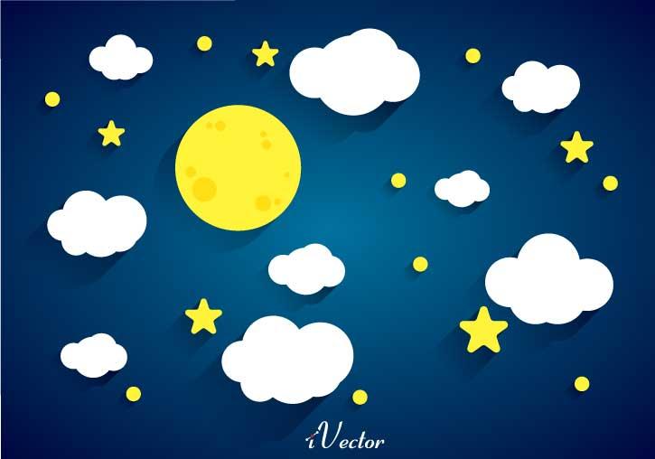وکتور کارتونی طرح شب beautiful pictures of the night sky