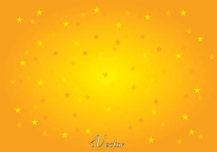 وکتور طرح ستاره زمینه زرد نارنجی star vector with orange and yellow background