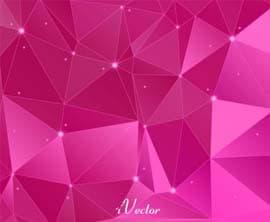 وکتور چند ضلعی زمینه صورتی pink polygon vector background