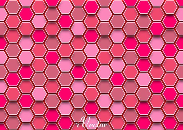 وکتور لانه زنبوری صورتی pink vector background